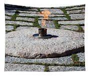 The Eternal Flame At President John F. Kennedy's Grave Tapestry