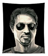 The Expendables Barney Ross Tapestry