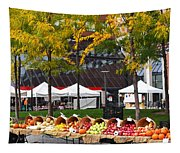 The Fall Harvest Is In Kendall Square Farmers Market Foliage Tapestry