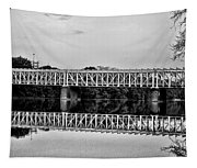 The Falls Bridge From Kelly Drive Tapestry