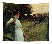 The Farmer's Daughter Tapestry