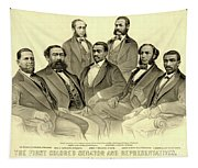 The First African American Senator And Representatives Tapestry