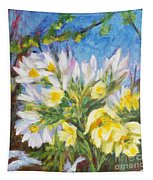The First Flowers After Winter Tapestry