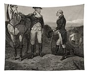 The First Meeting Of George Washington And Alexander Hamilton Tapestry