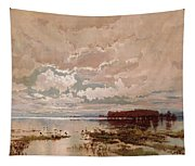The Flood In The Darling 1890 Tapestry