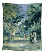 The Gardens In Montmartre Tapestry