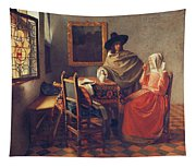 The Glass Of Wine Tapestry