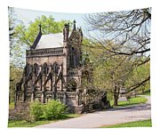 The Gothic Temple In Spring Grove Cemetery Tapestry