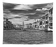 The Grand Canal - Paint Bw Tapestry