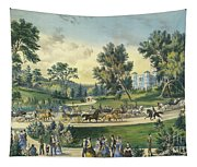 The Grand Drive, Central Park, New York, 1869 Tapestry