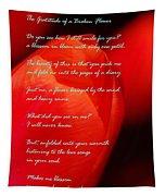 The Gratitude Of A Broken Flower  Tapestry