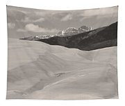 The Great Sand Dunes  Bw Sepia Tapestry