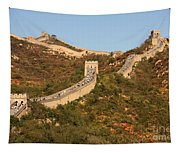 The Great Wall On Beautiful Autumn Day Tapestry