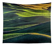 The Green Waves Of Palouse Wa Dsc05032  Tapestry