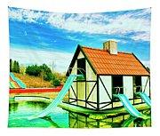 The Hazmat Water Park Tapestry