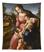 The Holy Family With The Infant Saint John The Baptist Tapestry