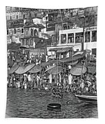 The Holy Ganges - Paint Bw Tapestry