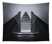 The Hotel Experimental Futuristic Architecture Photo Art In Modern Black And White Tapestry