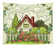 The House At The End Of Storybook Lane Tapestry
