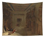 The Hypostyle Hall Of The Great Temple At Abu Simbel Egypt Tapestry