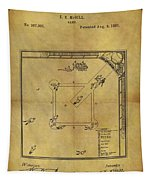 The Invention Of Baseball Tapestry