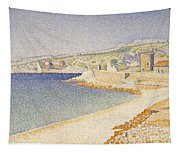 The Jetty At Cassis Tapestry