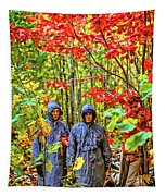The Joys Of Autumn Camping Tapestry