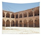 The Khan, Also Known As A Caravanserai, In Akko, Israel Tapestry