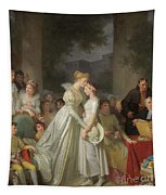 The Kiss Of Protection By The Local Chatelaine  Tapestry