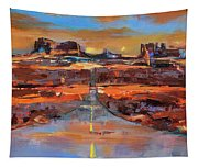 The Land Of Rock Towers Tapestry