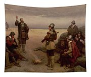 The Landing Of The Pilgrim Fathers Tapestry