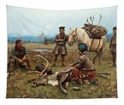 The Laplander Camp At Gleen Tapestry
