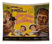 The Laughs Are Monsterous Abott An Costello Meet Frankenstein Classic Movie Poster Tapestry