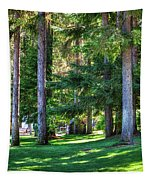 The Lawn At Hill's Resort Tapestry