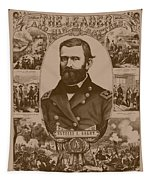 The Leader And His Battles - General Grant Tapestry