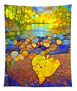 The Leaf At The Creek Tapestry