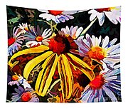 The Light Within The Flowers Tapestry