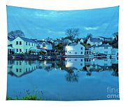 The Lights Come On In Mylor Bridge Tapestry