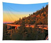The Linn Cove Viaduct At Sunrise Tapestry