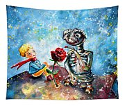 The Little Prince And E.t. Tapestry