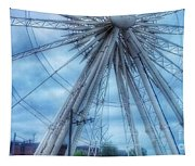 The Liverpool Wheel In Blues 3 Tapestry