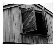 The Loft Door In Black And White Tapestry