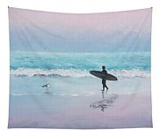 The Lone Surfer 2 Tapestry