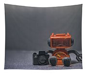 The Lonely Robot Photographer Tapestry