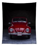 The Love Bug Square Tapestry