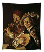 The Lutenist And The Flautist Tapestry