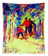 The Magical Skis Tapestry