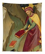 The Magus Hermogenes Casting His Magic Books Into The Water Tapestry