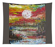 The Man And The Moon Tapestry