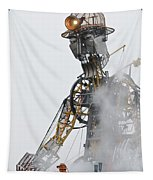 The Man Engine And His Man Tapestry